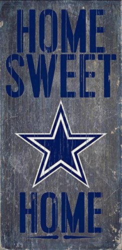Fan Creations - Dallas Cowboys Wood Sign - Home Sweet Home 6'x12'