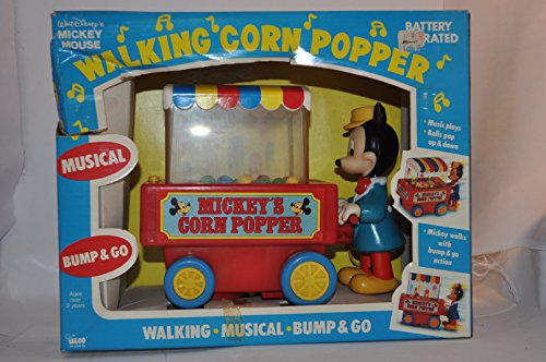 Why Choose Walt Disney MICKEY MOUSE Walking Corn Popper MUSICAL WALKING BUMP & GO