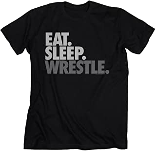 Eat Sleep Wrestle Adult T-Shirt | Wrestling Tees by ChalkTalk Sports | Multiple Colors | Adult Sizes