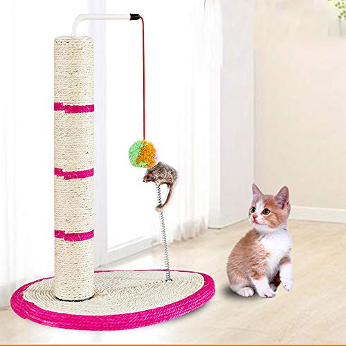 ZFFLYH Gato Que Rasguña El Poste, Robusto Durable Gatito Pet Corner Sisal Columpio Juguete Arañazos Actividad de Juego para Todos Los Gatos del Perrito Y Perros Pequeños