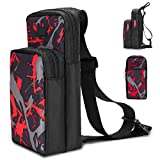 INFURIDER Portable Travel Carrying Case for Nintendo Switch, Durable Shoulder Storage Bag Fashion Backpack for Switch/Switch Lite Console Accessories