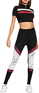 Qootent Women Skinny Yoga Pants Workout Leggings Sport Running Jogging Trousers