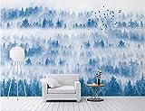 papel pintado bosque niebla