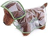 Chubasquero Impermeable para Perros y Gatos con Capucha,Ajustable Transparente, Ultraligero,para Perros Pequeños Medianos Chaqueta Impermeable Capa de Lluvia Ligera con Sombrero