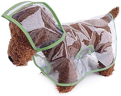 Chubasquero para perros y gatos Chihuahua perro salchicha, ajustable, resistente al viento, transparente, impermeable, chubasquero para perros pequeños y medianos con capucha, chubasquero (XL)