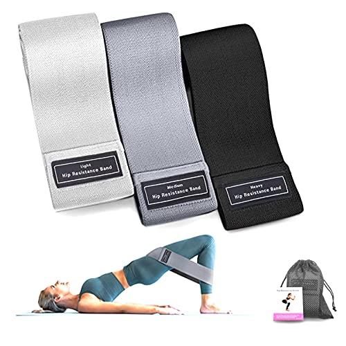 Bandas Elasticas Gluteos,Conjunto de Bandas de Resistencia Bandas Elásticas Musculación para Mujeres y Hombres, Ejercicio en el hogar, Yoga, Pilates, Gimnasio