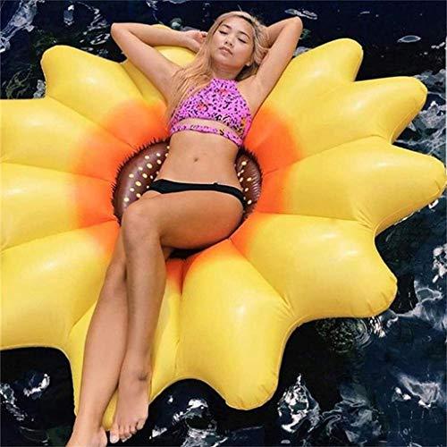 MDDCER Hinchable Colchonetas Inflable Sun Flower Pool Float Fila Ride-On Pool Float Fiesta De Fiestas Gigante Juguetes Divertidos Laps 190 * 190cm Yellow-190 * 190cm