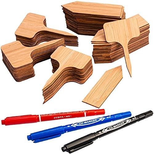 MUSCCCM 100 Etichette per Piante di bambù Pianta Etichette Marcatori per Piante