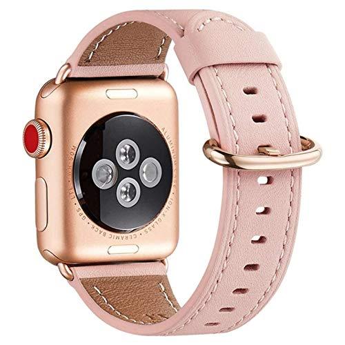 Correa para Apple Watch Band Pulseira de cuero genuino para Iwatch Strap Series 5 4 3 bandas pulsera Cinturino