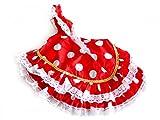 La Señorita Spanische Flamenco Kleid Puppe rot mit weißen Punkten