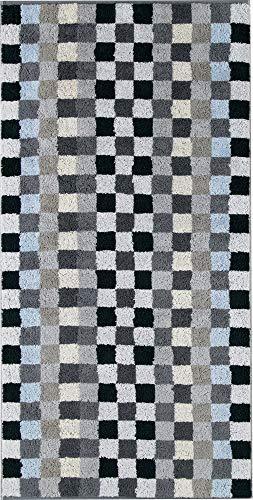Cawö Essuie-mains unique Karo 942, Coton, anthracite, Saunatuch 70x180 cm