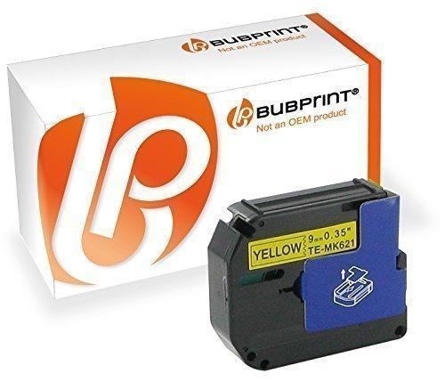 Bubprint Schriftband kompatibel für Brother MK-621BZ M-K621 für P-Touch 110 55 60 65 75 80 85 90 BB4 M95 9MM X 8M Schwarz auf Gelb