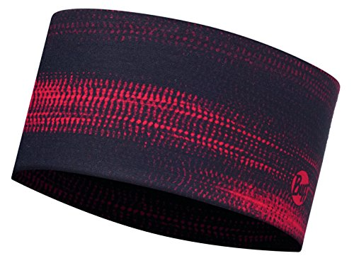 BUFFÂ HEADBAND High UV Protection UV Headband Écharpe Tube Multifonction Mixte, Stroke Red, Taille Unique