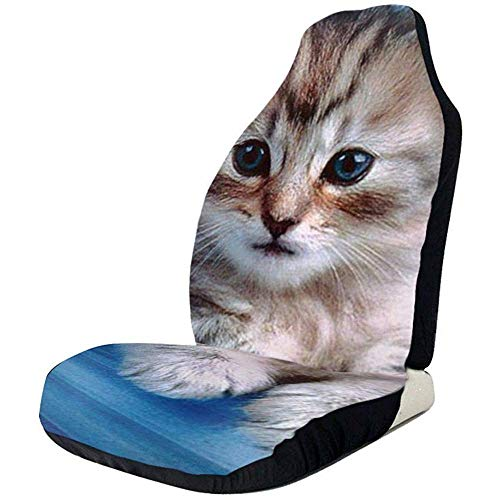 Joe-shop Kitten en blauwe kom bedrukte auto stoelhoes beschermer kussen premium hoezen