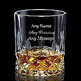 Personalisierte Whiskey Tumbler | Gravierte Whisky Glas 7oz mit jedem Namen | benutzerdefinierte Geschenk für Mann Vater | Hand in Großbritannien fertig
