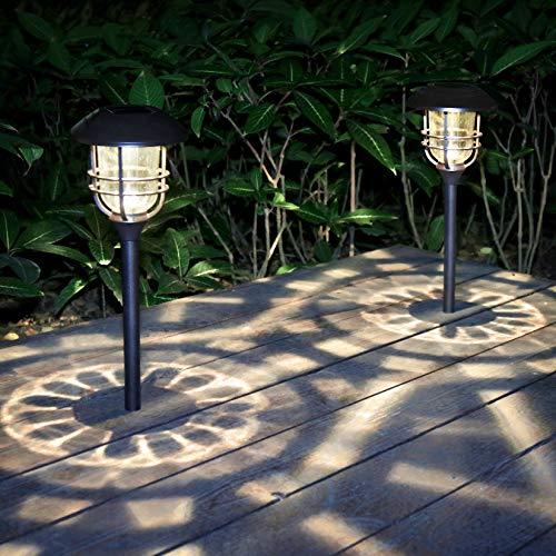 neemor Solar Lights Outdoor High Lumen Garden Pathway Landscape Light Solar Powered Yard Lights for Walkway Sideway Driveway (Set of 2) (Bronze)