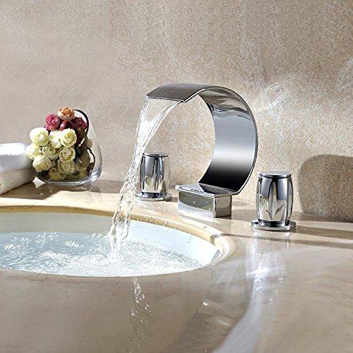 Xie (complète en cuivre de salle de bain robinet trois – pièce Lot de mains ronde robinet