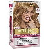 L'Oréal Paris Tinta Capelli Excellence, Copre I Capelli Bianchi, Colore Ricco, Luminoso E A Lunga Durata, 7.3, Confezione Da, Biondo Dorato