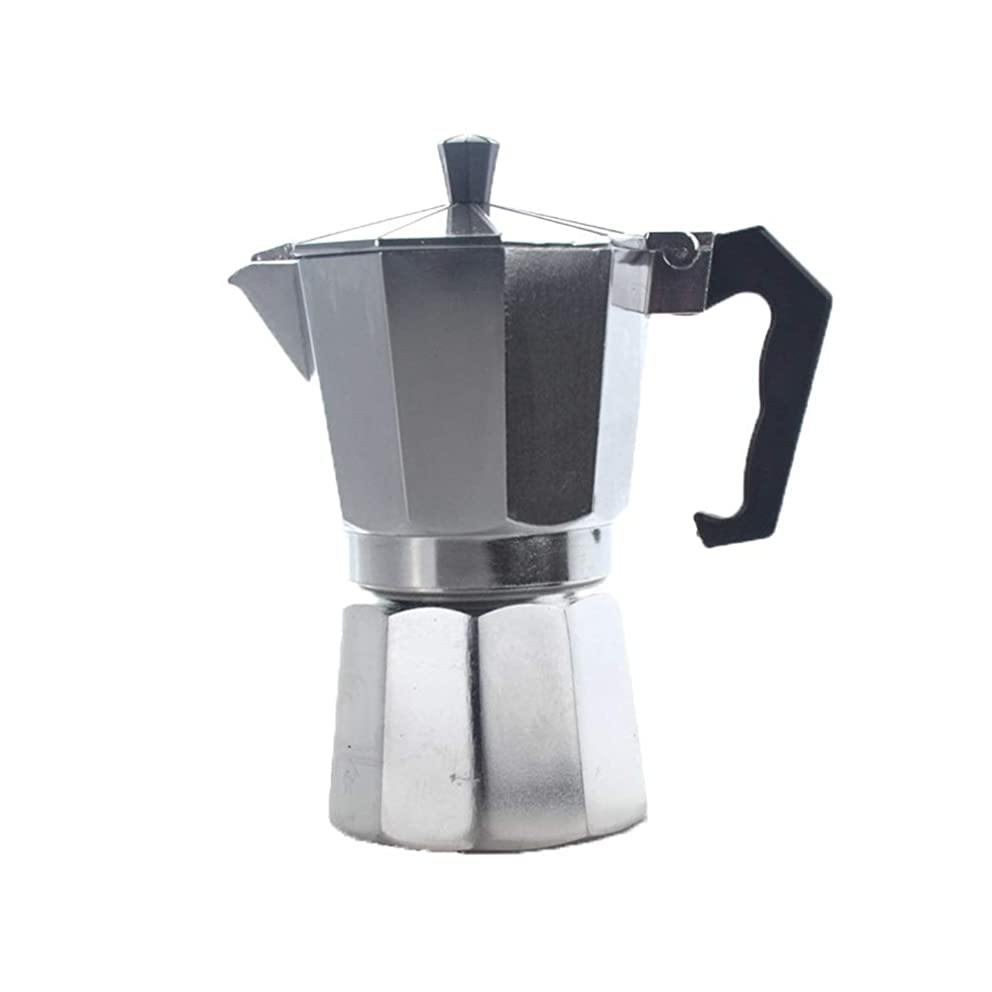 Coffee cup filter Italian Aluminum Octagonal Mocha Pot 3, 6, 12 Cups Moka Pot (Capacity : 6cup)