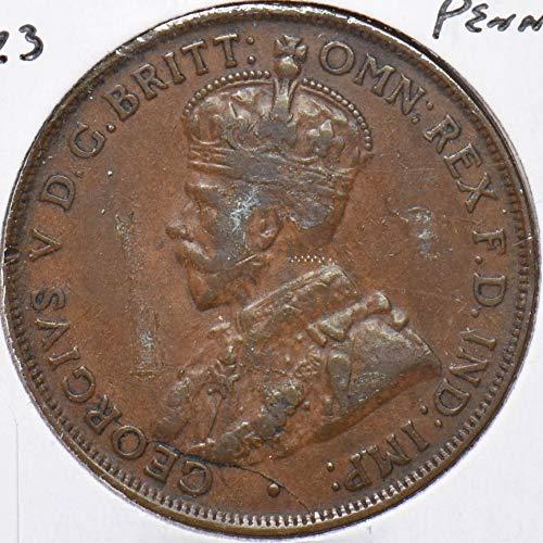 1923 AU Australia 1923 Georgivs V Penny 292848 DE PO-01