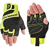 Wells Lamont Men's Hi-Viz Fingerless Synthetic Leather Work Gloves, Large (841YL),Hi-Viz...