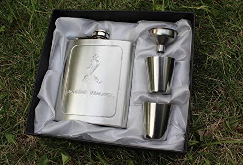 Piner 1SET Portable s/steel JD heupfles set, 7oz Whiskey Bottle flacon wijnpot met 2st beker en 1pc trechter reis drinkware, zonder geschenkdoos