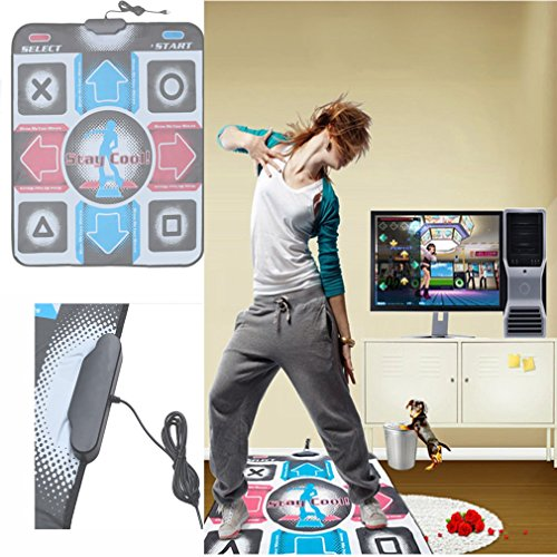Dailyinshop rutschfeste Tanzschritt-Tanz-Matten-Auflage-Pads-Tänzer-Decke zum PC mit USB