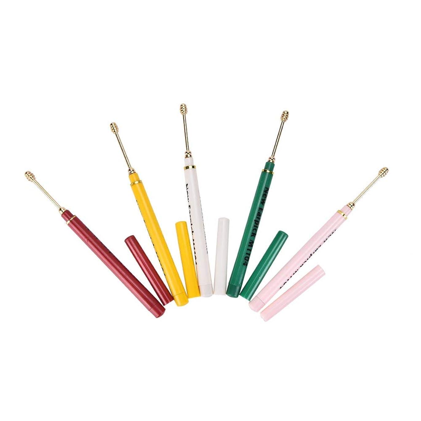 圧縮アクセス取り出すZHQI-GH ランダムカラー2ピースイヤホンスプーンツールクリーン耳ワックスキュレットリムーバーヘルスケアカラフルなギフト (色 : Multi-colored)