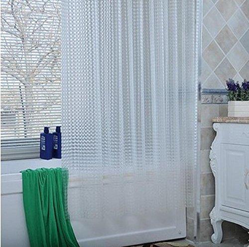 Rideau de douche en résine époxy 100% EVA avec crochets de rideau