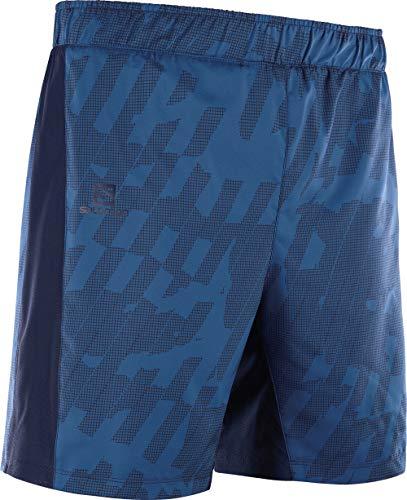 SALOMON Agile 2in1 Short Pantalón Corto, Hombre, Poseidon/Night Sky/ao, XS
