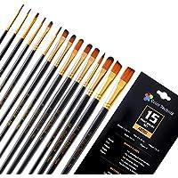Color Technik Paint Brush Set, 15 Artist Quality Paint Brushes for Painting Acrylic