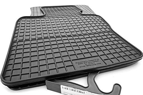 Tapis de sol en caoutchouc pour bMW mini et mini cooper à partir de 2014 produit de 4 tapis de sol en caoutchouc (noir)