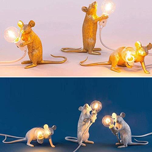 Jszzz Lámpara de Escritorio Ving Comedor Dormitorio Tienda de Ropa LED del ratón Tabla lámparas de Escritorio Regalo Tabla de la Resina Jianyu lámpara