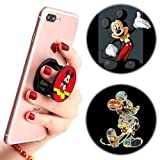 3 Pack / Multifunction Disney Cell Phone Stand Holder and Grip Mickey Mouse Foldable Phone Kickstand Mount Compatible for Smartphones