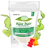 Agar Agar Powder 4oz : Gelatin Substitute, Vegan, Unflavored, Gummy bears, Cheese, Vegetarian, Gluten-free,...