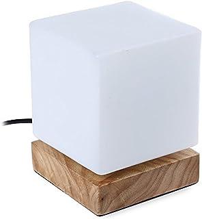 Injuicy 照明デスクライト多用途LEDデスクライト木製電気スタンド シンプルでおしゃれなデスクランプE27エジソン電球 スタンド デスクライトベッドサイドライト 間接照明 常夜灯 夜間照明 暖色 おしゃれ モダン 授乳用ナイトランプ、イン...