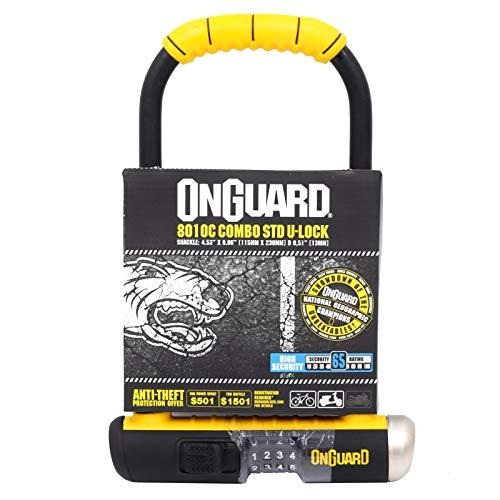 ONGUARD Bulldog 8010C Combination Bike U Lock