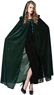 Halloween Cloak Blue or Green Witch Hoodies Cosplay Costume 59''