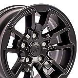 OE Wheels LLC 17 Inch Fits Dodge RAM 1500 Rebel Style DG55 Satin Black 17x8 Rim Hollander 2614