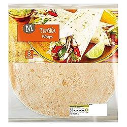 Morrisons Plain Tortilla Wraps, 8 Pack
