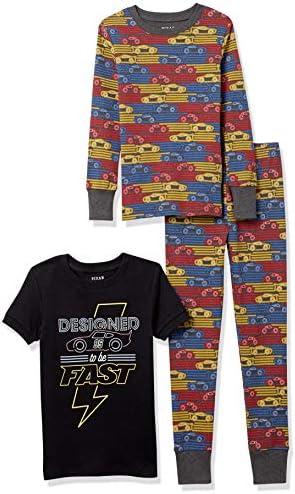 Marchio Spotted Zebra 6-Piece Snug-Fit Cotton Pajama Set Unisex-Bambini