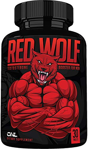 heavy duty Red Wolf Testosterone Booster for Men – Increase Dietary Supplements – Ultimate Very Strong Endurance, Drive, and Strength Booster for Men – Osyris Nutrition Lab – 1 Month – Made in USA