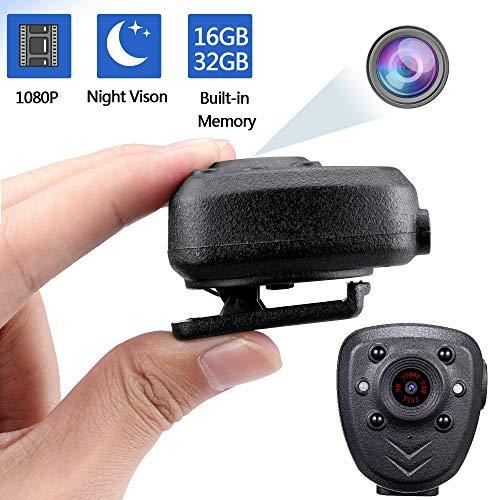 Mini Kamera Wireless Action-Cam Clip Full HD 1080P │ tragbare Kamera für Sport, Reiten │ IR - Nachtsicht │ 16GB