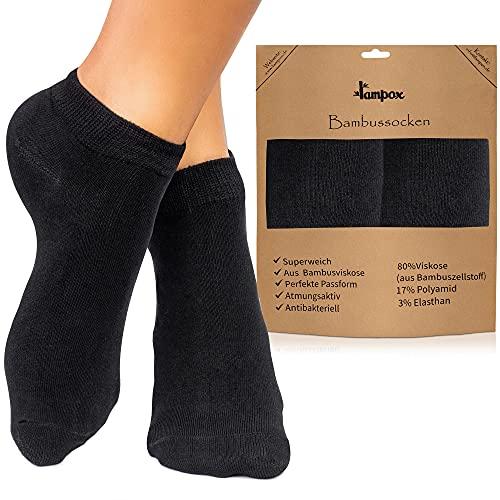 lampox Sneaker Bambussocken - 6 Paar - Atmungsaktiv - Komfortbund - Geruchshemmend -...
