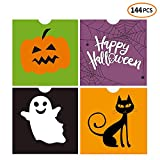iFUNow 144 Pack Halloween Bags Bulk for Halloween Goodie Bags, Halloween Candy Bags, Halloween Treat Bags, Halloween Trick or Treat Bags, Halloween Party Favors Bags, Halloween Goody Bags