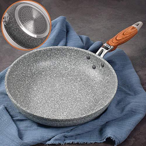 Koekenpan 20 cm anti-slip Megastone Premium grijs steen graniet effect