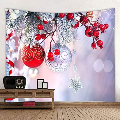 QWERY tapizFondo navideño Tapiz Chimenea decoración del árbol de Navidad impresión ecológica Tela Suave para Colgar