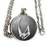 Mandalorian Mudhorn signet inspired - star wars inspired pendant necklace - HM