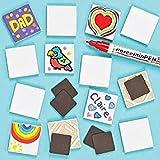 Baker Ross Imanes Baldosas de Porcelana (paquete de 10) para que los niños pinten los suy...