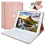 HOTLIFE iPad Mini 4 -A1538/A1550 Hülle Tastatur, 360 Grad rotierende Stand Keyboard Case mit Mulit-Angle- Ständer-Funktion, mit Auto Schlaf/Wachen, Bluetooth Deutsches QWERTZ Layout (Champagner)